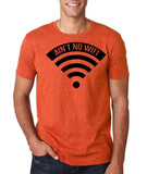 "aint no wifi Black Mens T Shirt-T Shirts-Gildan-Heather Orange-S To Fit Chest 36-38"" (91-96cm)-Daataadirect"