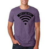 "aint no wifi Black Mens T Shirt-T Shirts-Gildan-Heather Purple-S To Fit Chest 36-38"" (91-96cm)-Daataadirect"