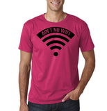 "aint no wifi Black Mens T Shirt-T Shirts-Gildan-Heliconia-S To Fit Chest 36-38"" (91-96cm)-Daataadirect"