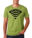 "aint no wifi Black Mens T Shirt-T Shirts-Gildan-Kiwi-S To Fit Chest 36-38"" (91-96cm)-Daataadirect"