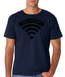 "aint no wifi Black Mens T Shirt-T Shirts-Gildan-Navy-S To Fit Chest 36-38"" (91-96cm)-Daataadirect"