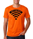 "aint no wifi Black Mens T Shirt-T Shirts-Gildan-Orange-S To Fit Chest 36-38"" (91-96cm)-Daataadirect"