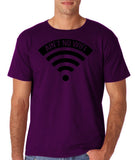 "aint no wifi Black Mens T Shirt-T Shirts-Gildan-Purple-S To Fit Chest 36-38"" (91-96cm)-Daataadirect"