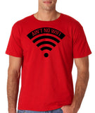 "aint no wifi Black Mens T Shirt-T Shirts-Gildan-Red-S To Fit Chest 36-38"" (91-96cm)-Daataadirect"