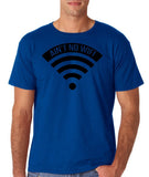 "aint no wifi Black Mens T Shirt-T Shirts-Gildan-Royal-S To Fit Chest 36-38"" (91-96cm)-Daataadirect"