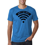 "aint no wifi Black Mens T Shirt-T Shirts-Gildan-Sapphire-S To Fit Chest 36-38"" (91-96cm)-Daataadirect"