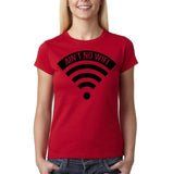 "Aint no wifi Black Womens T Shirt-T Shirts-Gildan-Cherry Red-S UK 10 Euro 34 Bust 32""-Daataadirect"