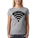 "Aint no wifi Black Womens T Shirt-T Shirts-Gildan-Sport Grey-S UK 10 Euro 34 Bust 32""-Daataadirect"