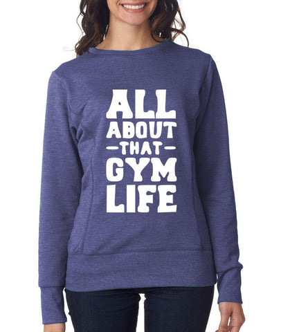 All About Gym Womens SweatShirt White-ANVIL-Daataadirect.co.uk
