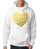 All We Need IS Love Men Hoodies Gold-Gildan-Daataadirect.co.uk