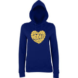 All We Need Is Love Women Hoodies Gold Glitter-AWD-Daataadirect.co.uk