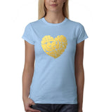 All We Need Is Love Women T Shirts Gold-Gildan-Daataadirect.co.uk