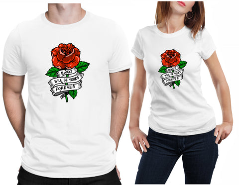 Rose Ribben Valentines Gift T-Shirt-Daataadirect-Daataadirect.co.uk