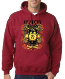 Anarchy Crown Eagle Skull  Men Hoodies-Gildan-Daataadirect.co.uk