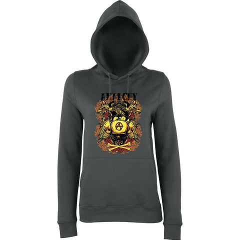 Anarchy Crown Eagle Skull  Women Hoodies-AWD-Daataadirect.co.uk