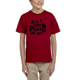 Are you picking on me Black Kids T Shirt-Gildan-Daataadirect.co.uk