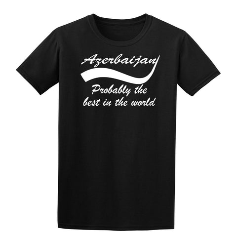 Azerbaijan probably the best country in the world Mens T Shirts White-Gildan-Daataadirect.co.uk