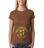 "Baby now loading funny pregnancy Gold Womens T Shirt-T Shirts-Gildan-Chestnut-S UK 10 Euro 34 Bust 32""-Daataadirect"
