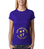 "Baby now loading funny pregnancy Gold Womens T Shirt-T Shirts-Gildan-Cobalt-S UK 10 Euro 34 Bust 32""-Daataadirect"