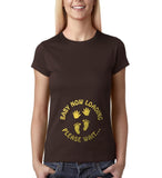 "Baby now loading funny pregnancy Gold Womens T Shirt-T Shirts-Gildan-Dk Chocolate-S UK 10 Euro 34 Bust 32""-Daataadirect"