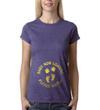 "Baby now loading funny pregnancy Gold Womens T Shirt-T Shirts-Gildan-Heather Purple-S UK 10 Euro 34 Bust 32""-Daataadirect"
