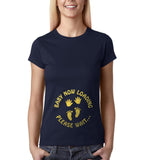 "Baby now loading funny pregnancy Gold Womens T Shirt-T Shirts-Gildan-Navy Blue-S UK 10 Euro 34 Bust 32""-Daataadirect"