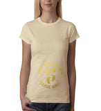 "Baby now loading funny pregnancy Gold Womens T Shirt-T Shirts-Gildan-Sand-S UK 10 Euro 34 Bust 32""-Daataadirect"
