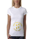 "Baby now loading funny pregnancy Gold Womens T Shirt-T Shirts-Gildan-White-S UK 10 Euro 34 Bust 32""-Daataadirect"