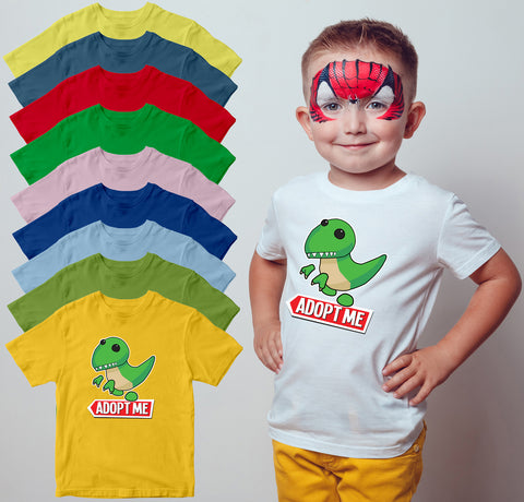Adopt Me T Rex Kids T Shirt Funny Baby Dino T-Shirt-Gildan-Daataadirect.co.uk