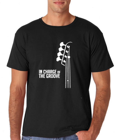 Bass Player In Charge Men T Shirts White-Gildan-Daataadirect.co.uk