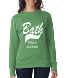 BATH Probably The Best City Women Sweat Shirts White-ANVIL-Daataadirect.co.uk