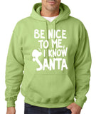 Be nice to me I know santa Mens Hoodies White-Gildan-Daataadirect.co.uk