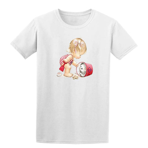 Beach Girl with Kitten in Pail 20245HL6 Kids T Shirt-t-shirts-Gildan-White-YXS-Daataadirect