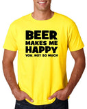 "Beer makes me happy Black Mens T Shirt-T Shirts-Gildan-Daisy-S To Fit Chest 36-38"" (91-96cm)-Daataadirect"