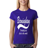 BERMINGHAM Best City Women T Shirts White-Gildan-Daataadirect.co.uk