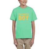 Birthday boy Kids T SHirts Gold Glitter-Gildan-Daataadirect.co.uk