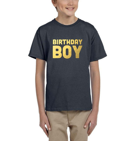 Birthday boy Kids T SHirts Gold-Gildan-Daataadirect.co.uk