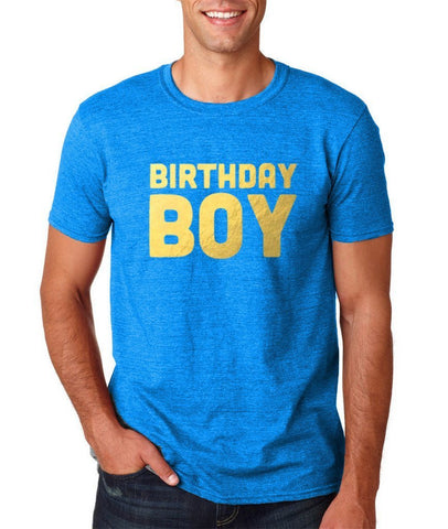 Birthday Boy Mens T Shirts Gold-Gildan-Daataadirect.co.uk