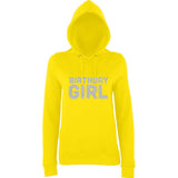 Birthday Girl Womens Hoodies Silver Glitter-AWD-Daataadirect.co.uk