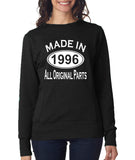 Made in 1996 All Orignal Parts Women Sweat Shirts White