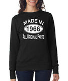 Made in 1966 All Original Parts Women Sweat Shirts White-ANVIL-Daataadirect.co.uk