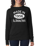 Made in 1956 All Orignal Parts Women Sweat Shirts White-ANVIL-Daataadirect.co.uk