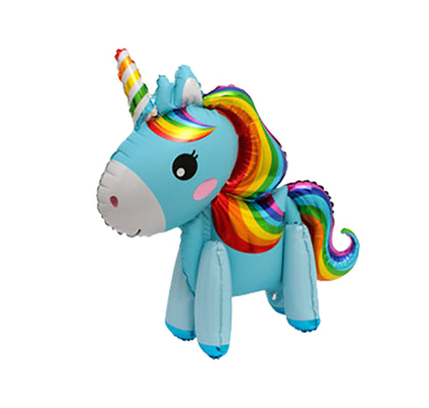 Cross border 3D stereo unicorn balloon unicorn aluminum foil balloon-Puppy Kitty Balloons-Daataadirect.co.uk