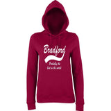 "BRADFORD Best City Women Hoodies White-Hoodies-AWD-Burgundy-XS UK 8 Euro 32 Bust 30""-Daataadirect"