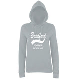 "BRADFORD Best City Women Hoodies White-Hoodies-AWD-Heather Grey-XS UK 8 Euro 32 Bust 30""-Daataadirect"