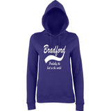"BRADFORD Best City Women Hoodies White-Hoodies-AWD-Purple-XS UK 8 Euro 32 Bust 30""-Daataadirect"