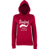 "BRADFORD Best City Women Hoodies White-Hoodies-AWD-Red Hot Chilli-XS UK 8 Euro 32 Bust 30""-Daataadirect"