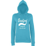 "BRADFORD Best City Women Hoodies White-Hoodies-AWD-Turquoise Surf-XS UK 8 Euro 32 Bust 30""-Daataadirect"