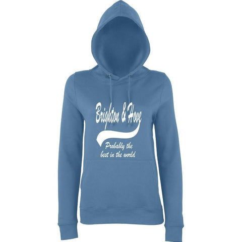 "BRIGHTON And HOVE Best City Women Hoodies White-Hoodies-AWD-Airforce Blue-S UK 10 Euro 34 Bust 32""-Daataadirect"