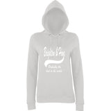"BRIGHTON And HOVE Best City Women Hoodies White-Hoodies-AWD-Ash-XS UK 8 Euro 32 Bust 30""-Daataadirect"